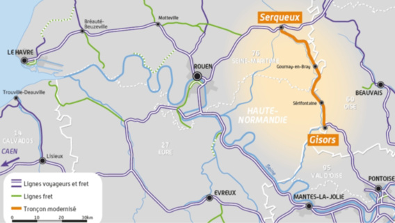 Modernisation de la ligne SNCF Serqueux-Gisors : avis favorable à l'enquête publique