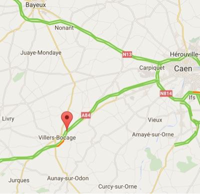 L'A84 fermée pendant 5 minutes jeudi 7 juillet à hauteur de Villy-Bocage (Calvados)