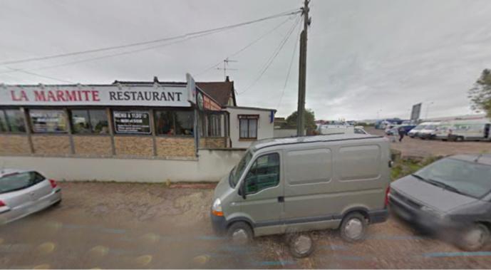 Le voleur a siphonné des poids-lourds gares sur le parking du restaurant (illustration@Google Maps)