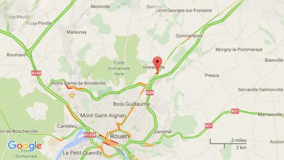 Trois malfaiteurs arrêtés ce matin près de Rouen après avoir arraché un distributeur de billets