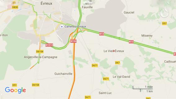 Poids-lourd en difficulté : la RN 154 coupée cette nuit près d'Évreux (Eure)