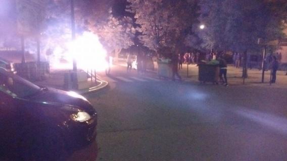 Les violences ont duré plus de trois heures dans le quartier de la Madeleine (Photo@Laurent Lacressonniere/Twitter)