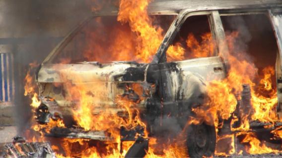 Certains véhicules ont été détruits par effet de propagation (Illustration)