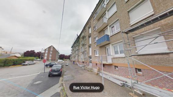 Le drame est survenu dans cet immeuble du Houlme (illustraion@Google Maps)
