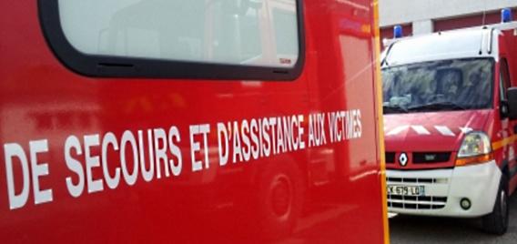 5 véhicules de secours et 23 sapeurs-pompiers ont été mobilisés sur les lieux de l'accident en gare de Barentin (Illustration)