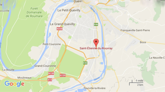 Un curé et plusieurs fidèles retenus en otages dans une église de Saint-Étienne-du-Rouvray