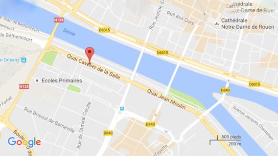 Le corps sans vie de l'adolescent a été découvert par un passant ce mercredi peu après 13h30. Il flottait dans la Seine à hauteur du quai Cavelier de la Salle à quelques centaines de mètres du lieu où le véhicule a plongé dans le fleuve