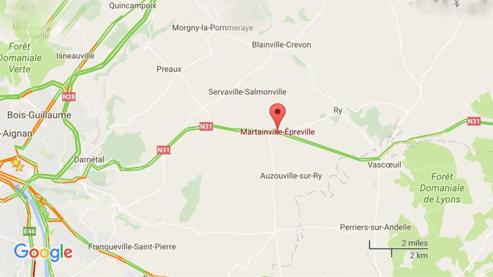 L'accident provoque la chute d'un poteau électrique : la RN31 coupée à Martainville-Épreville