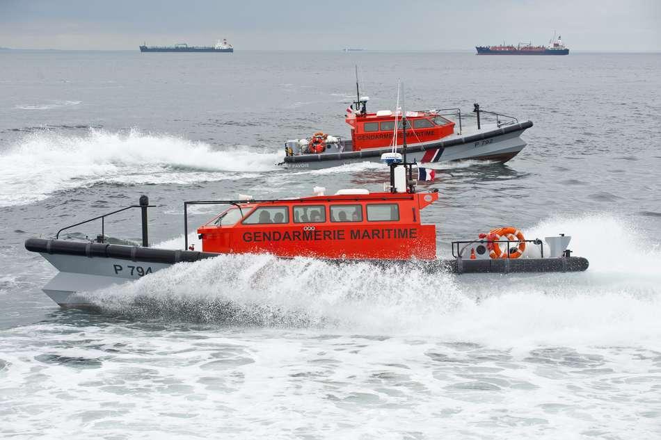 La vedette de la gendarmerie maritime a procédé à la sécurisation de l'intervention des secours et aux constatations (Photo@gouv.fr)