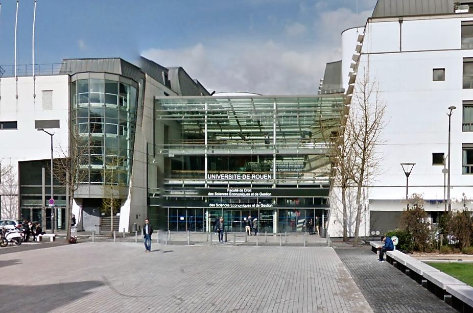 Le président de l'Université de Rouen a annoncé ce jeudi que la réouverture de la faculté de droit, ave,nue Pasteur, aura lieu ce vendredi matin (Illustration@Google Maps)