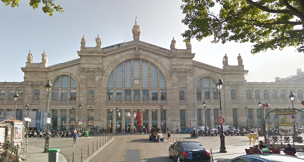 La gare du Nord, à Paris (Illustration)