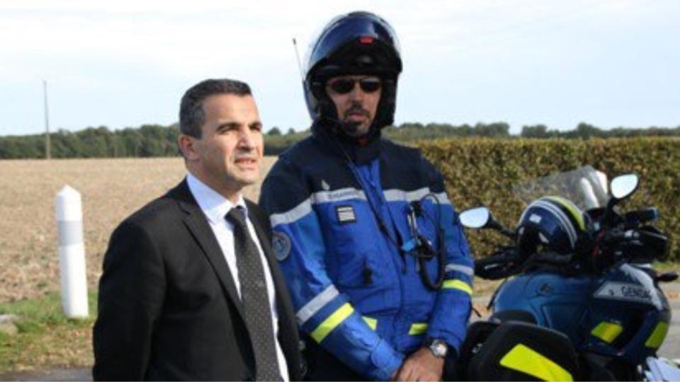 Madjid Ouriachi, directeur de cabinet du préfet de l'Eure, ici sur un contrôle de sécurité routière (Photos@préfecture 27)