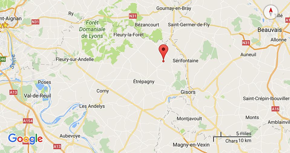 Deux blessés graves dans un accident de la route près d'Etrépagny