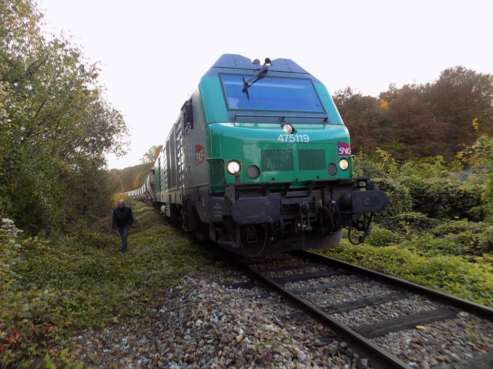 Le convoi ferroviaire était chargé de 800 tonnes de sucre (Photo@DR)