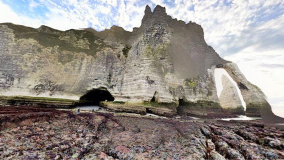Les promeneurs ont été piégés par la marée au Trou à l'homme (Illustration)