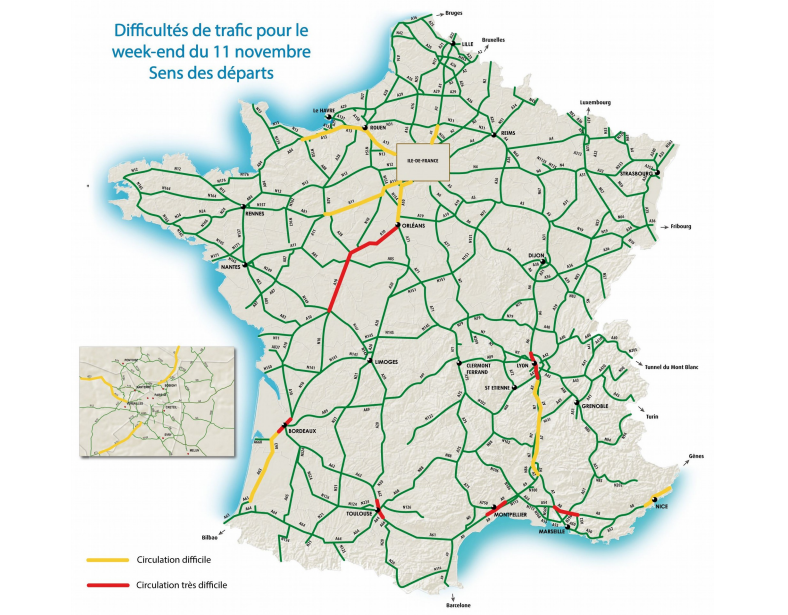 Cliquer sur la carte pour l'agrandir (Document@Bison Futé)