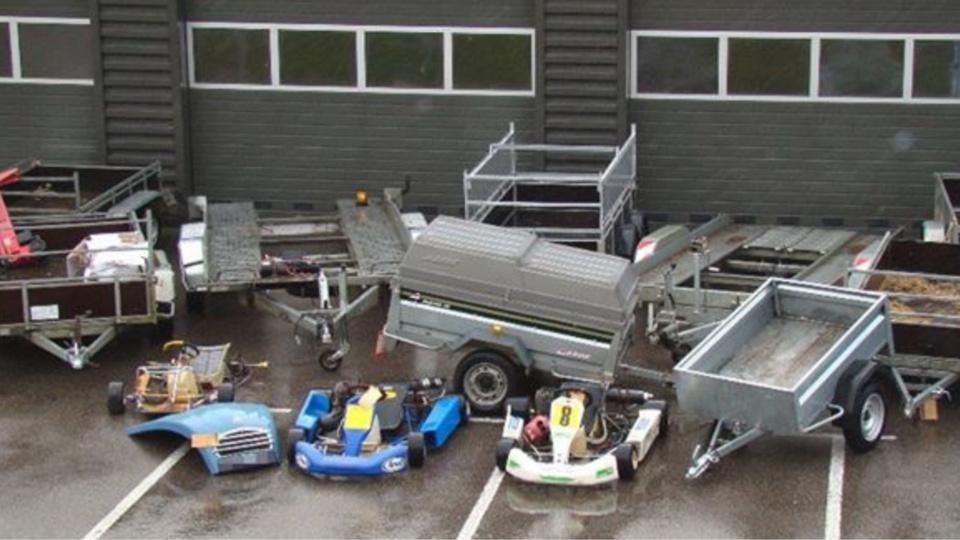 Une quinzaine de remorques volées ont été restituées à leur propriétaire (Photo@gendarmerie/Facebook)