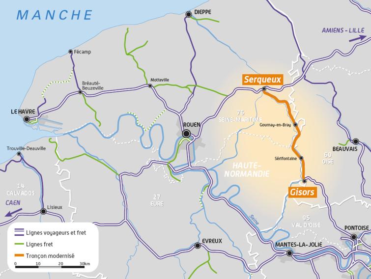 La modernisation de la ligne porte sur 50 kilomètres (document@SNCF)