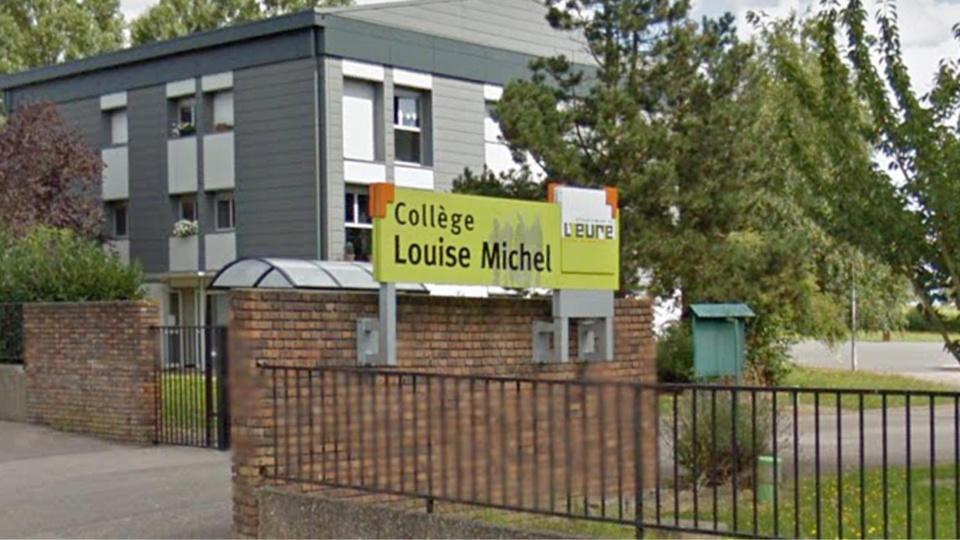 Le collège Louise Michel a Manneville-sur-Risle où se sont déroulés les faits (illustration)