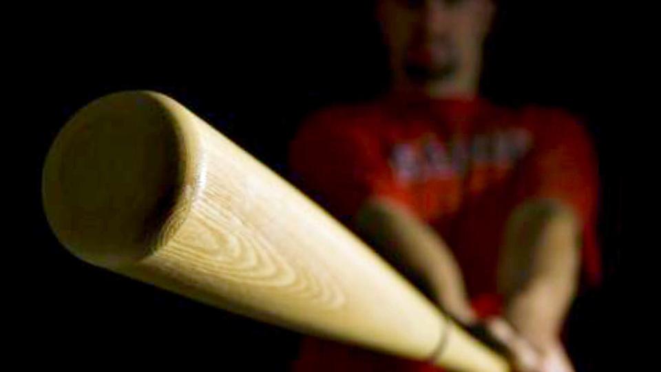 Frappée à grands coups de batte de baseball, la victime s'est vu prescrire quatre semaines d'ITT (Illustration)