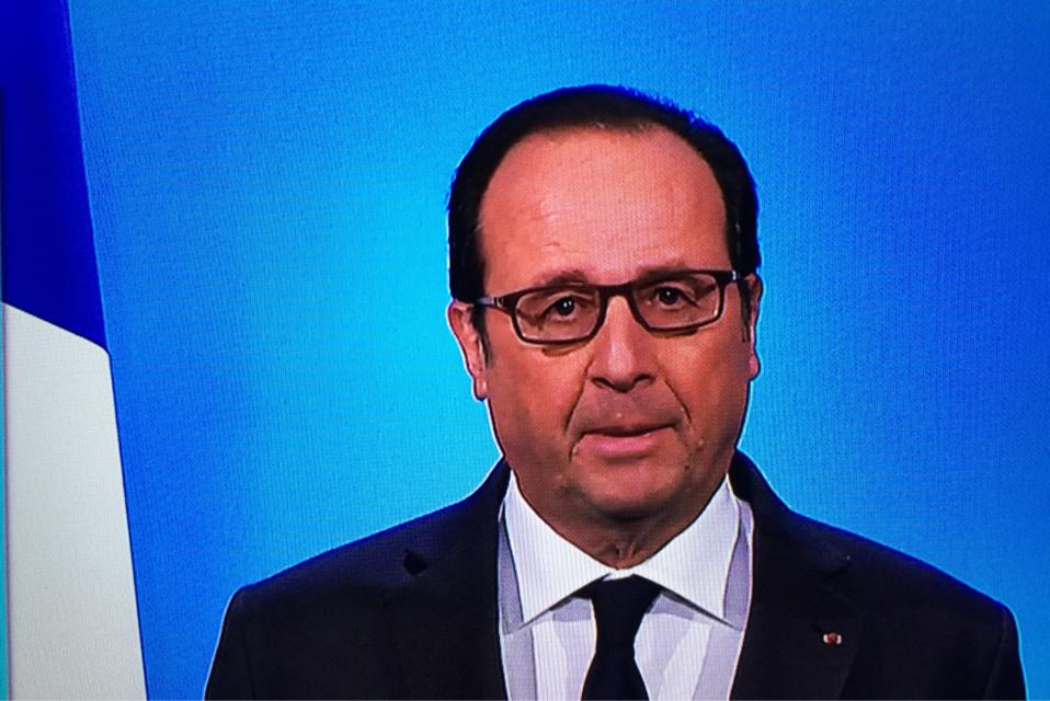 François Hollande a créé la surprise en annonçant ce soir qu'il n'était pas candidat à sa succession (Capture d'écran)