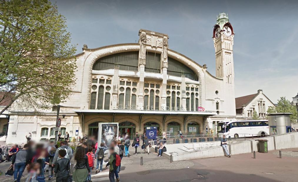 La participation de la Région Normandie s'inscrit dans le cadre des études et des travaux de réaménagement de la gare de Rouen (Illustration©Google Maps)