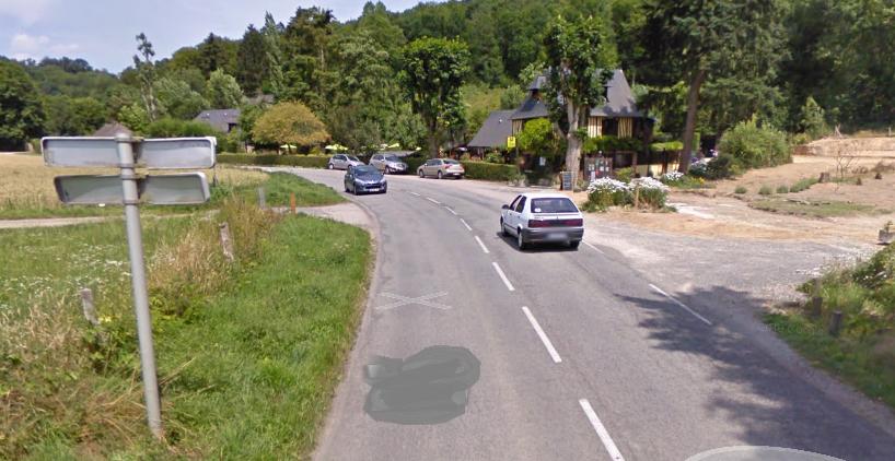 Le pilote aurait perdu le contrôle de sa moto près de l'auberge du Val de Cesne, à la limite de la commune de Croix-Mare (Illustration)