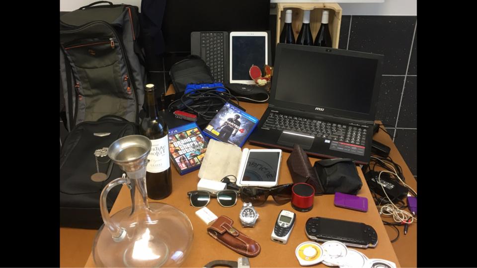 Une partie des objets volés a été retrouvée lors des perquisitions au domicile respectif des mis en cause (Photo©Gendarmerie nationale)