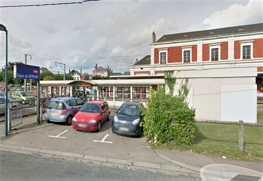 La gare de Bernay (Illustration©Google Maps)