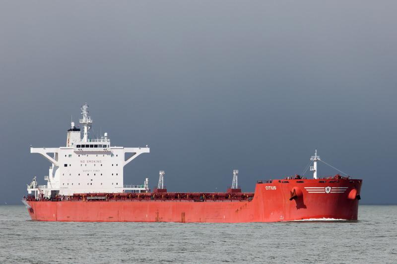 Le Citius, cargo de 228 m de long, s'est échoué samedi à hauteur de Quillebeuf-sur-Seine (Photo d'illustration © Hannes van Rijn)