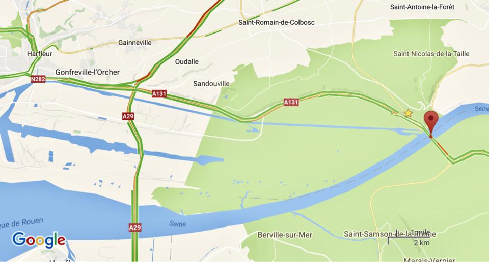 Après un camion hier soir, une voiture à contre-sens ce soir sur l'A131 entre Tancarville et Le Havre