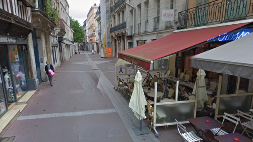 Rue de l'Hôpital à Rouen (illustration)