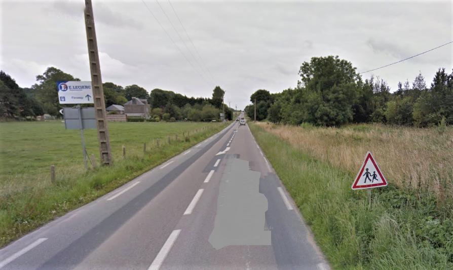 Le drame est survenu sur la route de Goderville, dans une zone non éclairée et des circonstances qui restent à établir (Illustration©GoogleMaps)