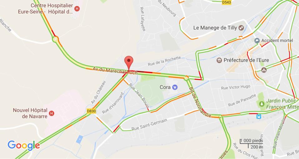 Évreux : un piéton fauché par un poids-lourd ce matin avenue Foch