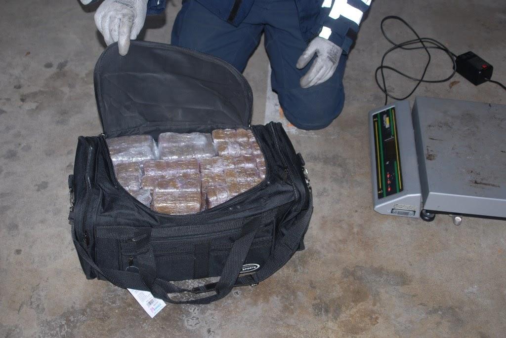 La marchandise est estimée à plus de 3 millions d'euros sur le marché illicite de la revente au détail de stupéfiants (Photo ©Douanes françaises)