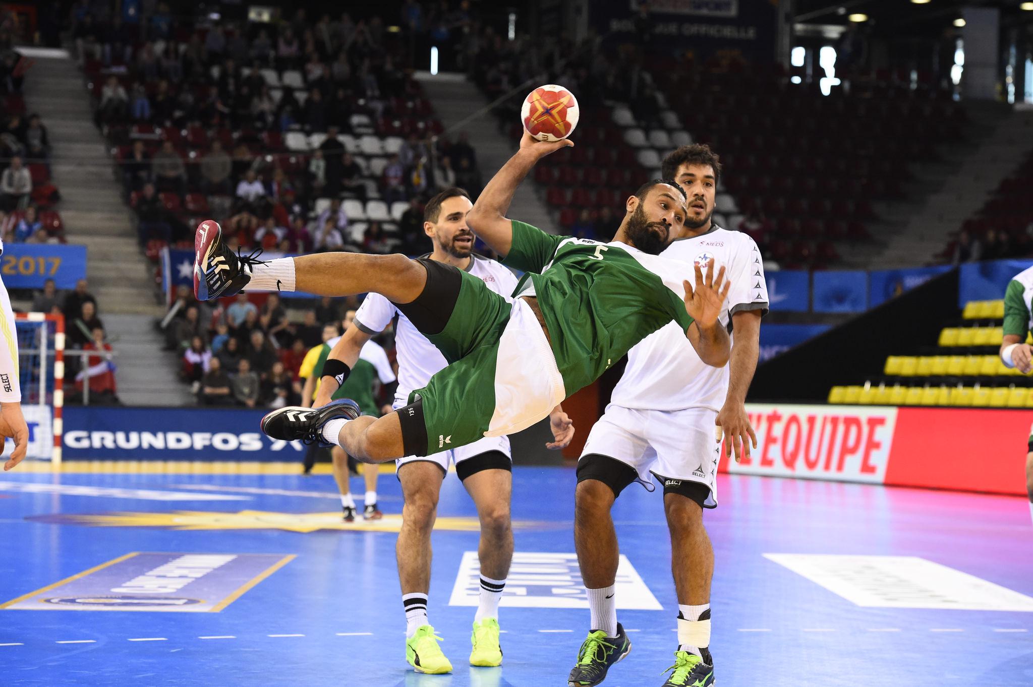 Le Chili s'est incliné hier soir devant l'Arabie Saoudite au Kindarena à Rouen (Photo©P.Montigny/France Handball)