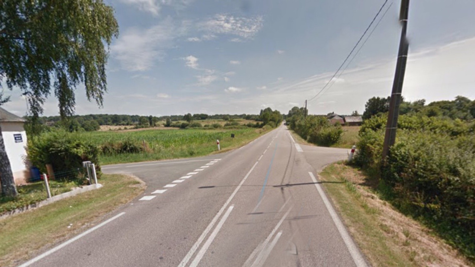 Le piéton a été percuté à ce carrefour sur la RD 919 ( illustration)