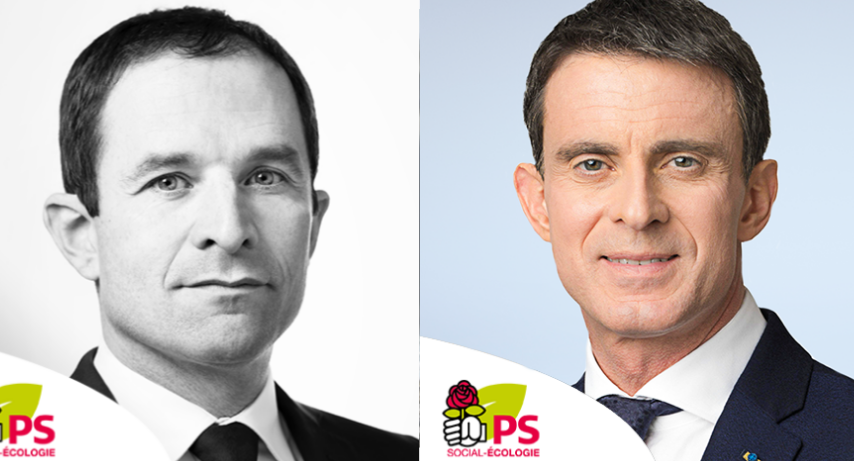 Benoit Hamon et Manuel Valls (Photos©DR)
