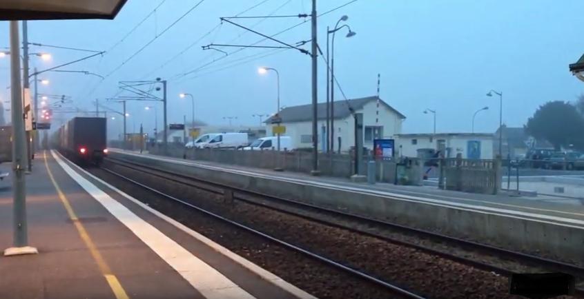 L'accident est survenu cet après-midi en gare de Bréauté (Illustration©Youtube)