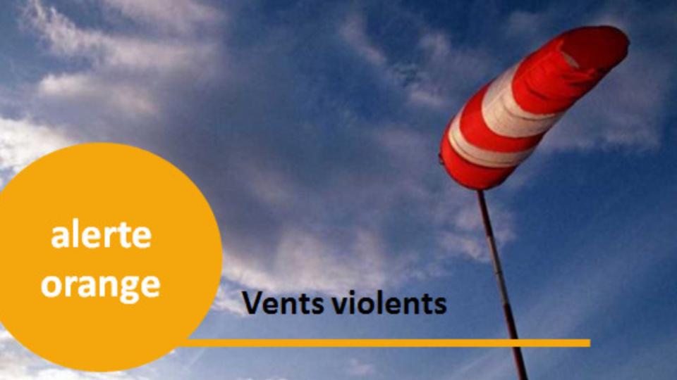 Des rafales de vent pouvant atteindre 120 km/h attendues aujourd'hui