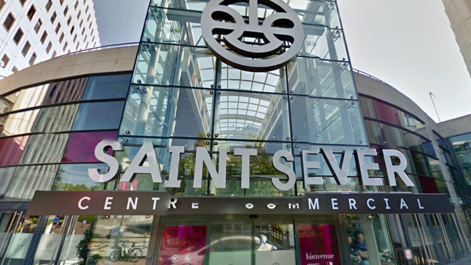 Les deux enfants ont échappé à la surveillance de leur grand-mère au centre commercial Saint-Sever (illustration)