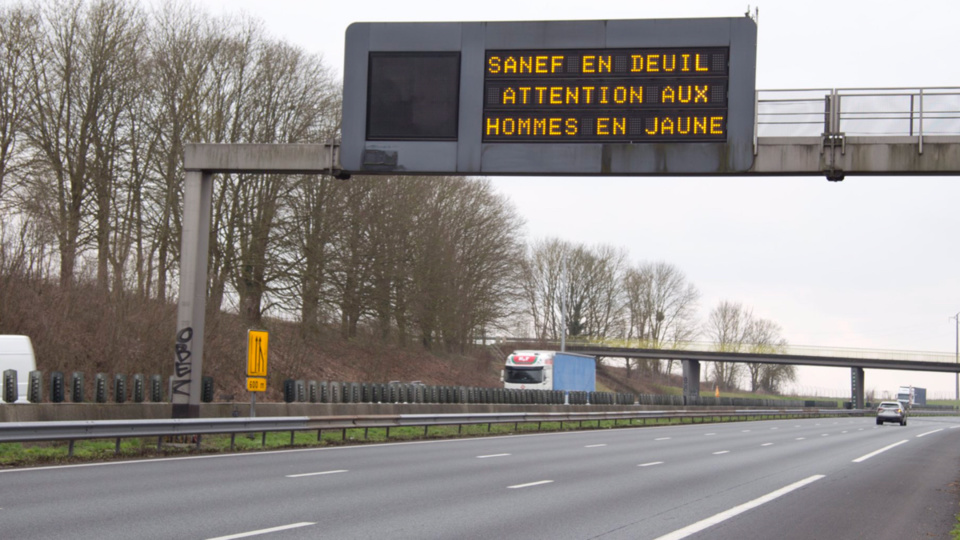Un ouvrier de Sanef tué dans un accident sur l'autoroute A1 près d'Arras