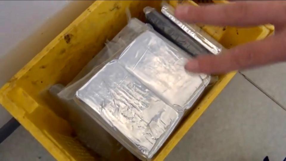 La drogue était conditionnée dans du film d'aluminium