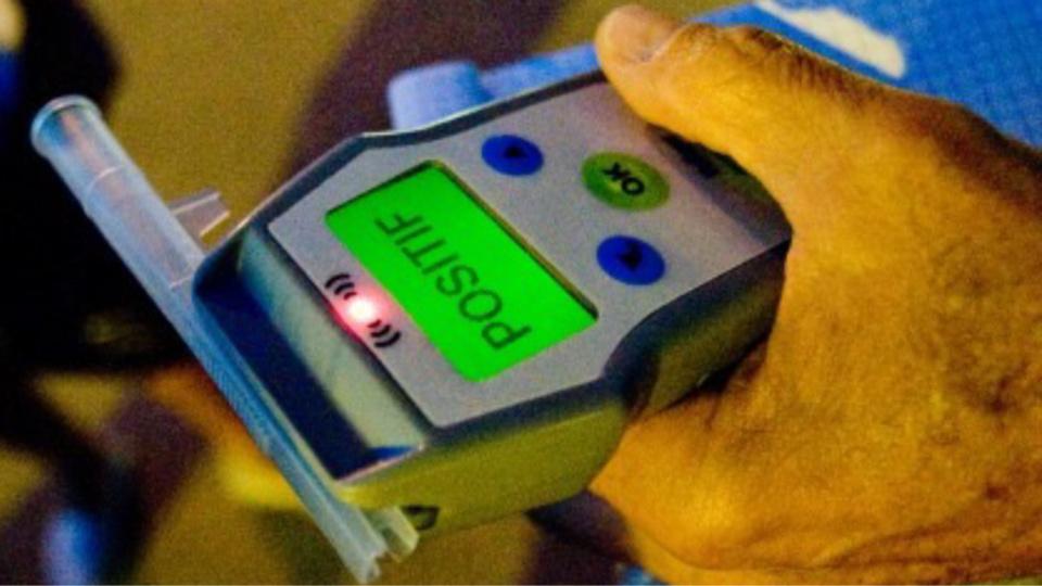 Le conducteur dépisté avait 1,46 g par litre d'air expiré, soit 2,92 g dans le sang (Illustration)