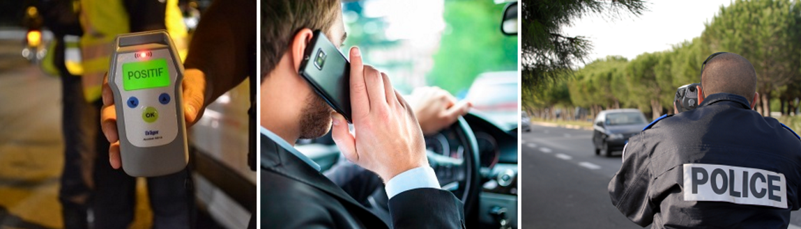 L'alcool, le téléphone portable et la vitesse seront dans le collimateur des forces de l'ordre à l'occasion des départs pour les vacances de Pâques