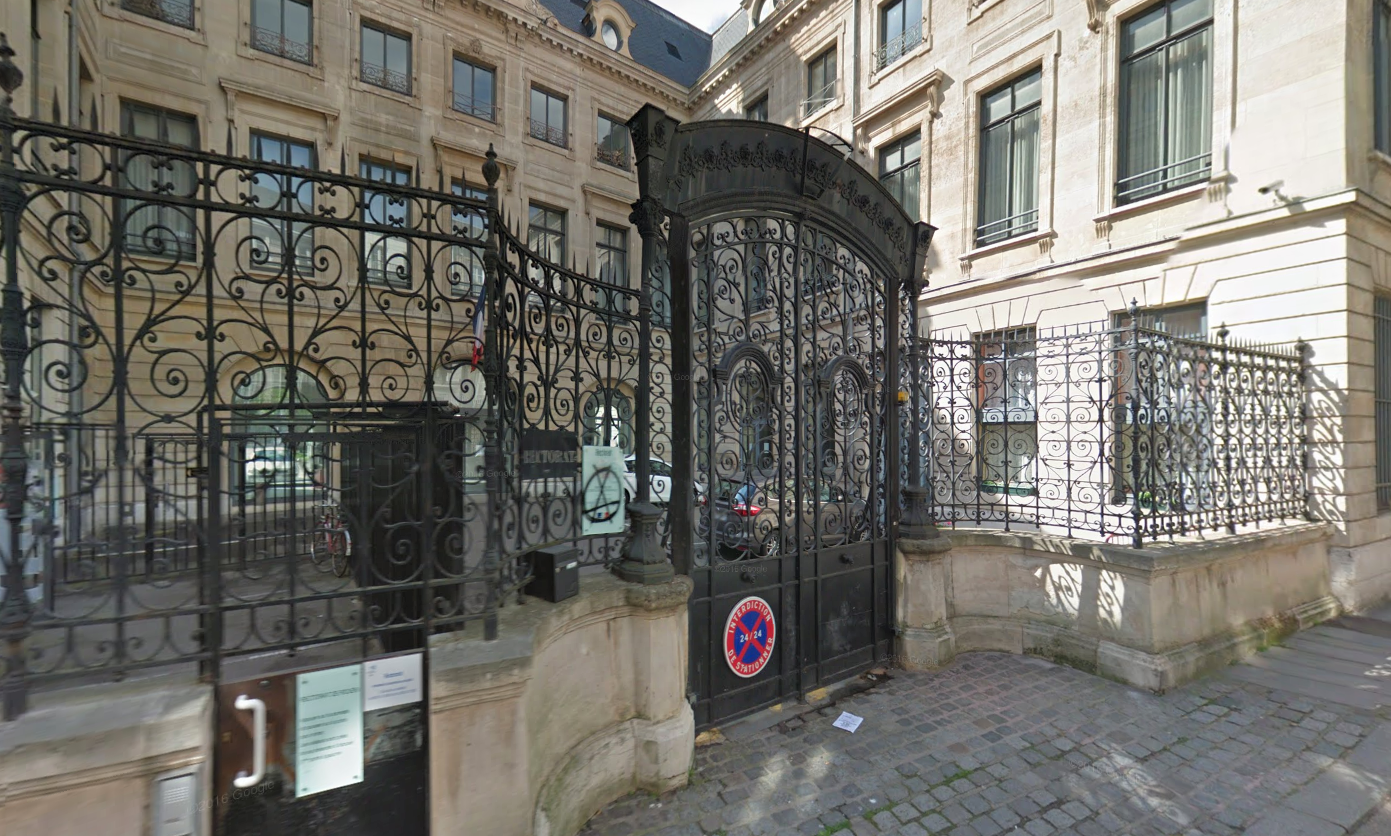 Le rectorat de Rouen, rue de Fontenelle (illustration©Google Maps)