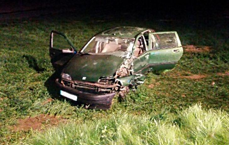 A voir l'état du véhicule, le choc a été particulièrement violent (Photo © DR)