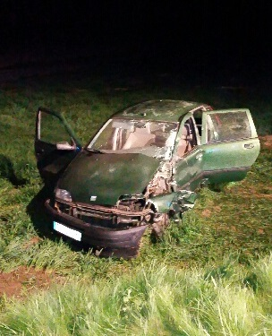 L'état de la Fiat démontre la violence du choc (©DR)
