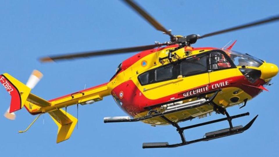 L'hélicoptère de la sécurité civile a été associé à l'opération d'assistance (Illustration)
