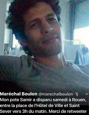 Un appel à témoin a été lancé par les amis du jeune homme disparu sur les réseaux sociaux (Photo © Twitter)